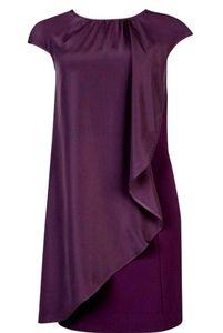 Vintage Ted Baker purple frella asymmetric dress